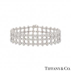 Tiffany & Co. Platinum Diamond Lace Bracelet